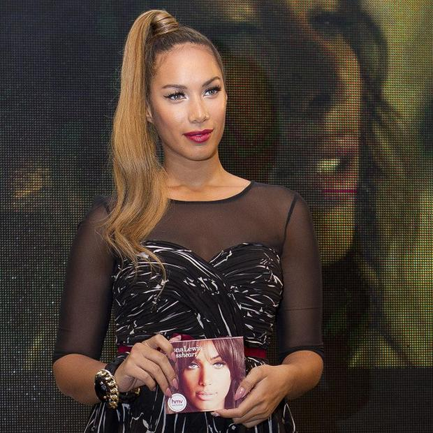 Leona Lewis says the signing incident has left its mark on her
