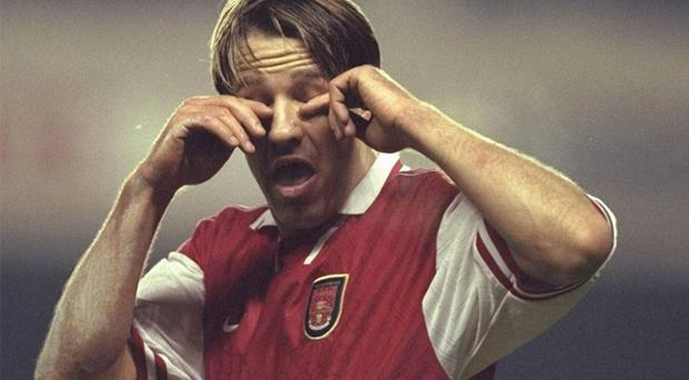 Paul Merson said he was given caffeine tablets at Arsenal