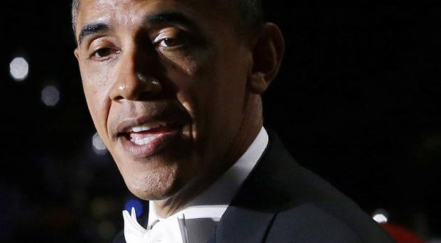 President Barack Obama speaks at the Alfred E Smith Memorial Foundation Dinner (AP/Charles Dharapak)