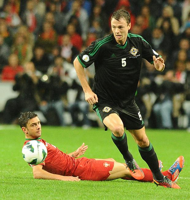 Northern Ireland's Jonny Evans was a star performer in Tuesday's game against Portugal