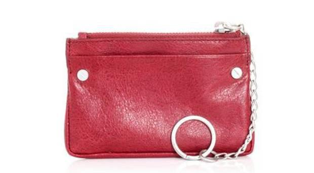 <b>1. Coin wallet, £155, Balenciaga, matchesfashion.com</b><br/> This lambskin leather coin wallet has a zip fastening and a silver chain key ring attached to it, so you can also keep your keys safe.