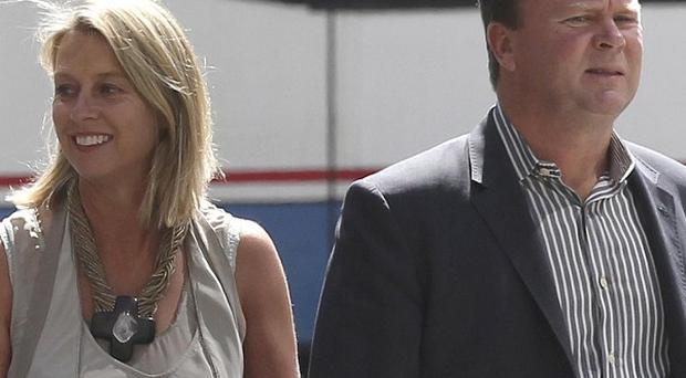 Belinda and Bill Pulver were in court for the sentencing of the man who admitted chaining a fake bomb to their daughter (AP)