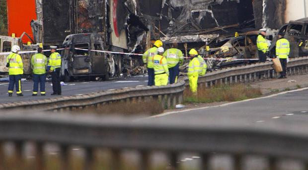 Seven people were killed in the collision involving several cars on the M5 on November 4 last year