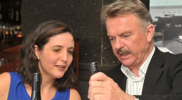 Movie star Sam Neill popped into Whiteabbey bar-restaurant Bureau By The Lough to launch his Two Paddocks wine range