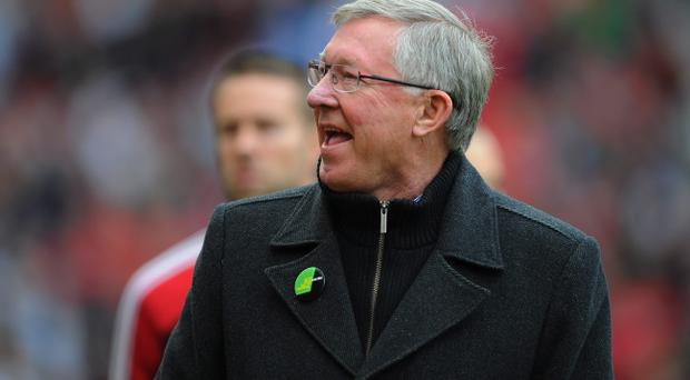 MANCHESTER, ENGLAND - OCTOBER 20: Manchester United manager Sir Alex Ferguson looks on during the Barclays Premier League match between Manchester United and Stoke City at Old Trafford on October 20, 2012 in Manchester, England. (Photo by Michael Regan/Getty Images)