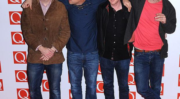 Blur arriving at the 2012 Q Awards where they were named best live act