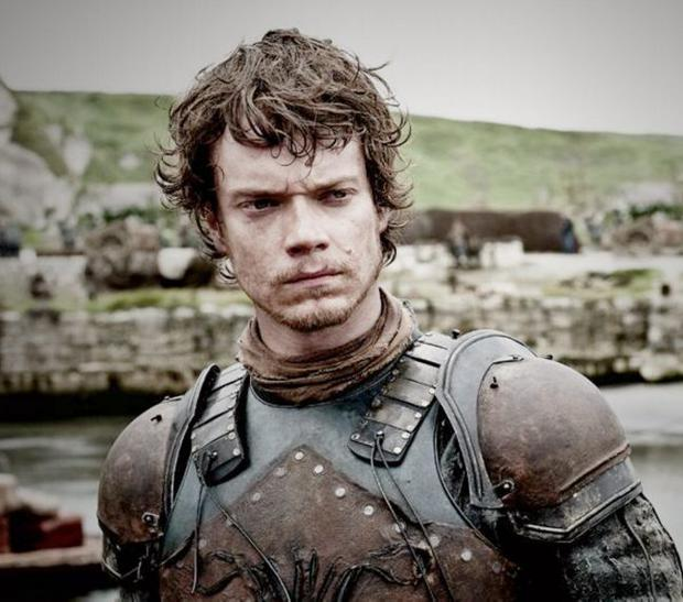 Alfie Allen, who plays Theon Greyjoy, during filming at Ballintoy