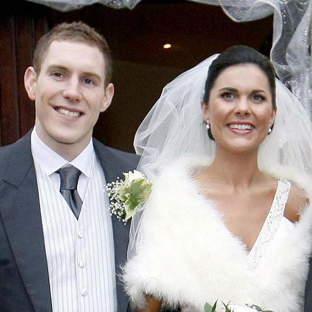 John McAreavey and wife Michaela McAreavey on their wedding day at St Malachy's Church Ballymacilrory