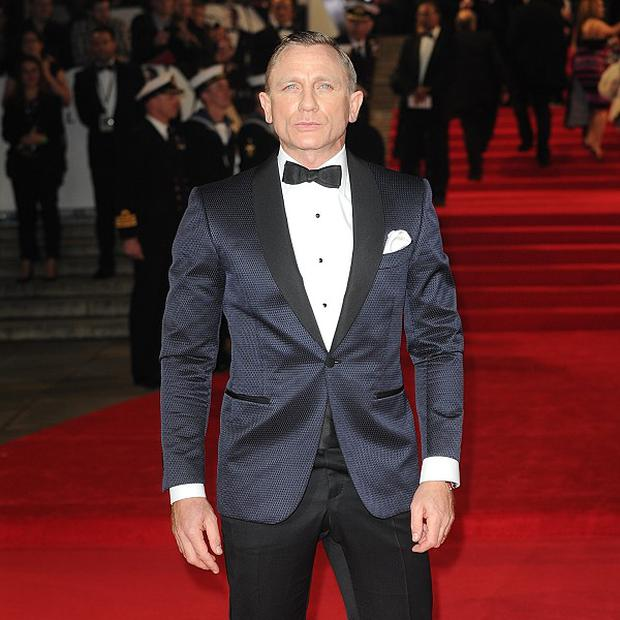 Daniel Craig arriving for the Royal World Premeire of Skyfall in London
