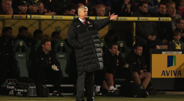Arsene Wenger saw his Arsenal team lose 1-0 to Norwich on Saturday