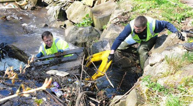 Volunteers during the Belfast Telegraph's Big Spring Clean campaign earlier this year to help clean-up the countryside