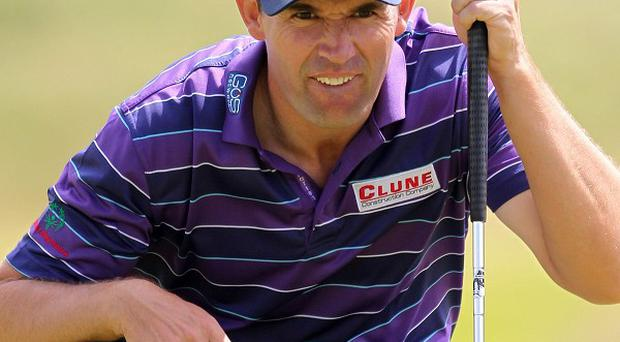 Padraig Harrington has a slender lead in Bermuda