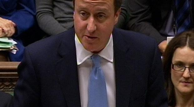 PM David Cameron said prisoners 'are not getting the vote under this Government'