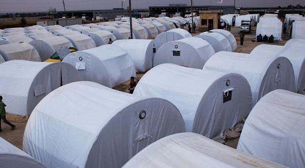 A refugee camp for Syrians forced from home by the fighting (AP)