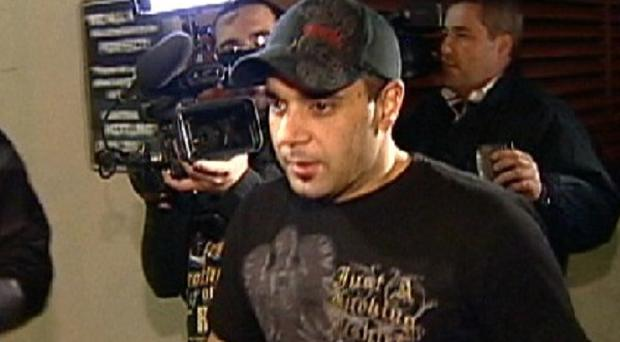 Sam Lutfii, who claims he was Britney Spears' manager, took the stand in his defamation lawsuit against her parents (AP)