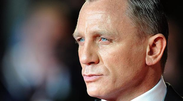 Daniel Craig arriving for the Royal World Premiere of Skyfall
