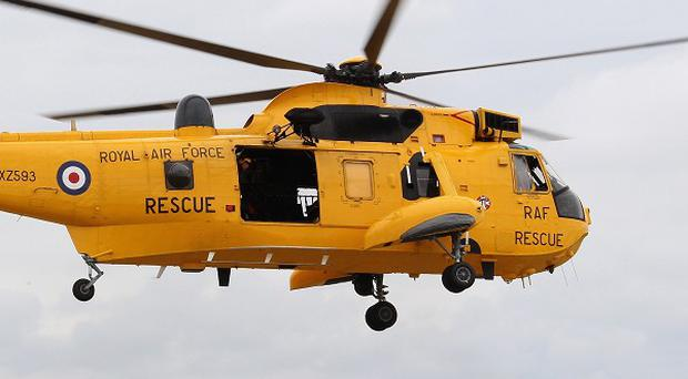 The RAF helped to rescue 19 people after their helicopter dtiched in the North Sea near Shetland