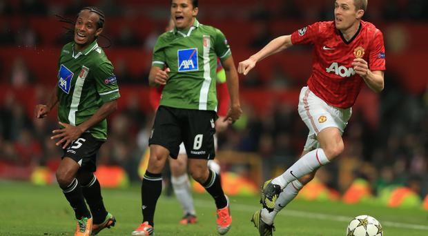 Manchester United's Darren Fletcher (pictured right in Tuesday's ChampionsLeague clash against Braga) says Chelsea's attacking style can leave them open