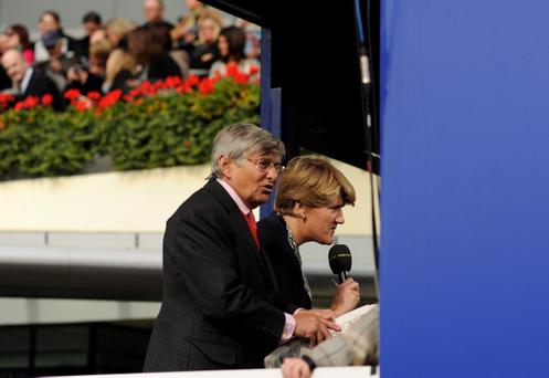 Willie Carson pictured with Clare Balding