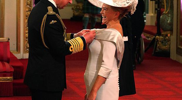 Amanda Redman admitted her curtsey at Buckingham Palace was wobbly