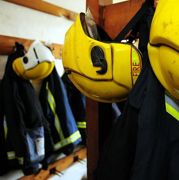 Three Northern Ireland Fire and Rescue Service appliances were sent to the scene