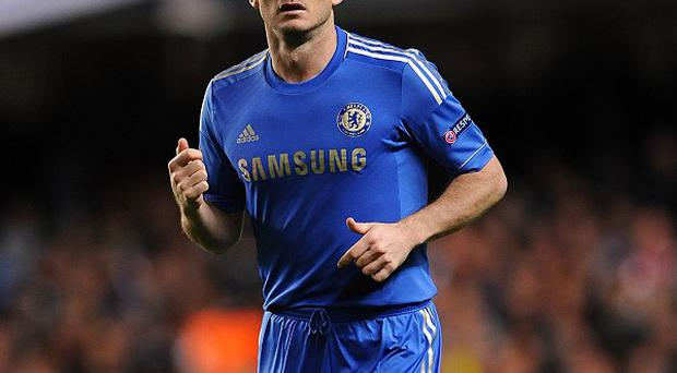 Frank Lampard's chances of playing at the weekend will become clearer on Friday
