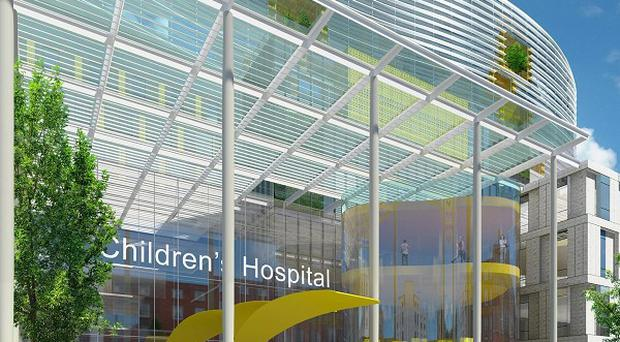 An artist's impression of the proposed National Children's Hospital on the Mater site in Dublin