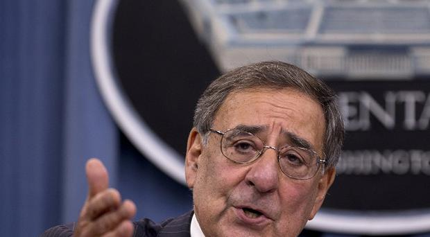 Leon Panetta speaks during a joint news conference at the Pentagon (AP/Carolyn Kaster)