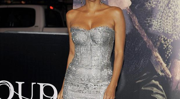 Halle Berry shimmered in silver at the Cloud Atlas premiere in LA