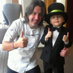 Michael Deane with Oscar Knox