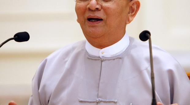 Burma president Thein Sein said violence in the Rakhine region could 'tarnish the image of the country' (AP)