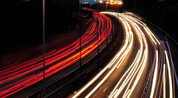 Street lights on motorways and other roads have been switched off or dimmed