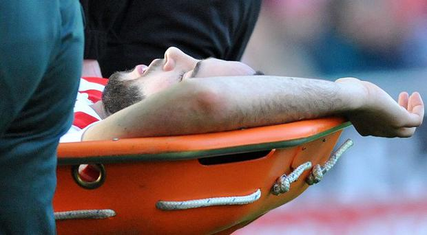 Marc Wilson was stretchered off in Saturday's clash against Sunderland