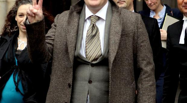 Comedian Frankie Boyle leaves the High Court