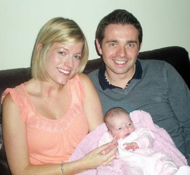 CIARA and Chris Scannell from Belfast are celebrating the birth of their first child, Erin.