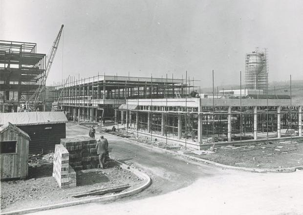 The Ulster Hospital being built in 1961