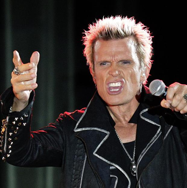Billy Idol performs in Seattle at a birthday party concert for Michael Henrichsen (AP)
