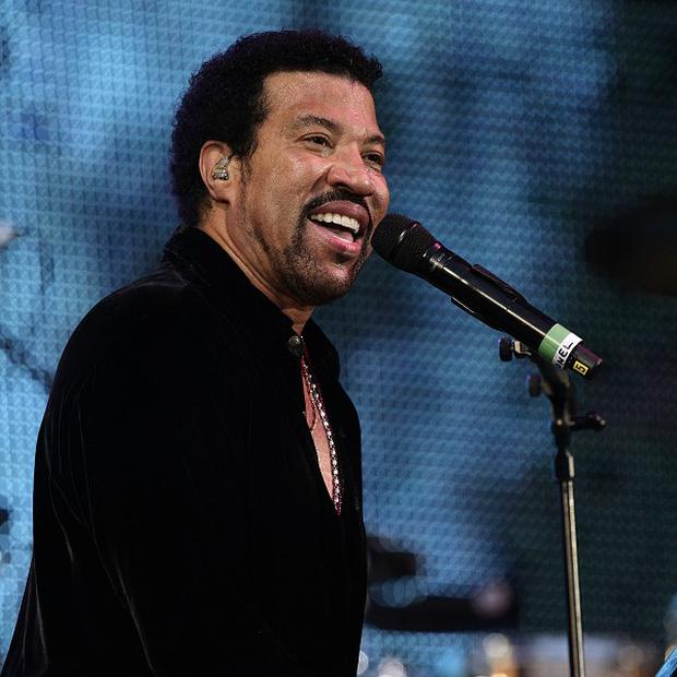 Lionel Richie said he was having a great time on stage in London