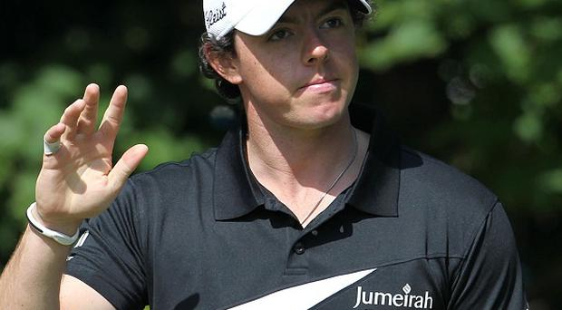Rory McIlroy secured victory over Tiger Woods in China