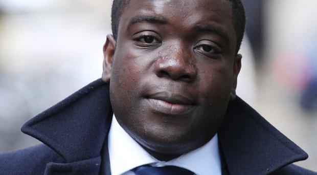 Alleged rogue trader Kweku Adoboli arrives at Southwark Crown Court where he gave evidence
