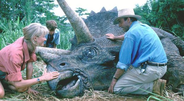 Actor Sam Neill in Jurassic Park