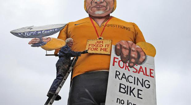 The effigy of Lance Armstrong will be burnt in Edenbridge, Kent, on Saturday night