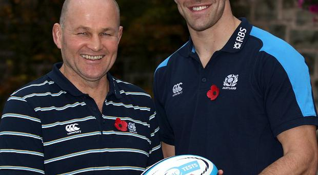 Andy Robinson, left, was pleased with Scotland's camp as they prepare for the autumn internationals