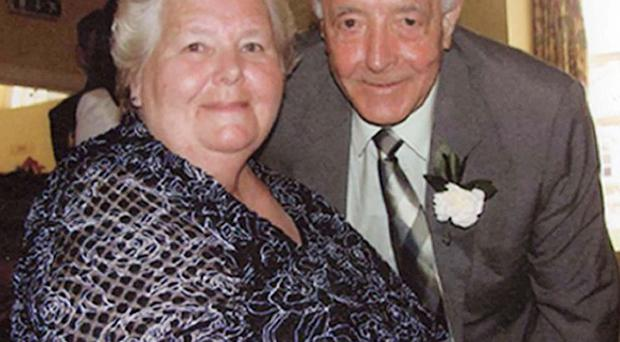 Bertie Acheson, with his wife Sheila, died after a confrontation with an intruder in his home