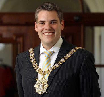 Switched on: the Lord Mayor Gavin Robinson