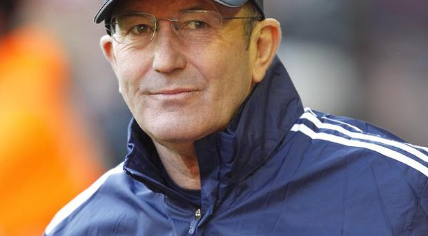 Tony Pulis, pictured, has been hailed as the 'best-ever' Stoke manager by chairman Peter Coates
