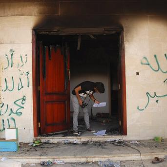 The US consulate in Benghazi, Libya, after an attack that killed four Americans including ambassador Chris Stevens (AP)