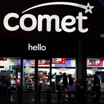 Gift vouchers for stricken electrical retailer Comet have been suspended, the chain's administrator says
