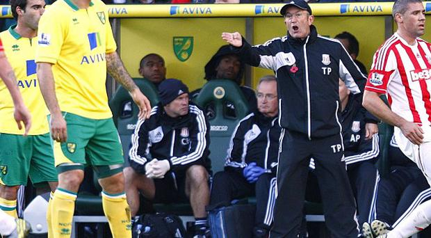 Tony Pulis felt his Stoke team were harshly treated by the referee