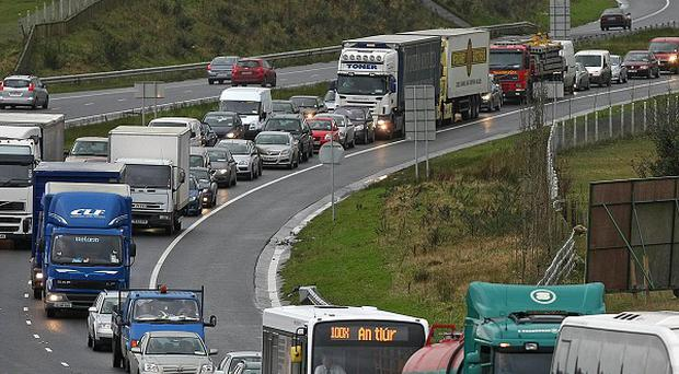 One person has died following a road accident on the eastbound section of the M1